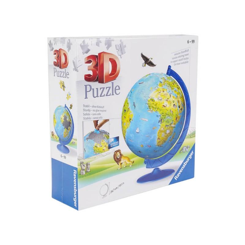Puzzle 3D Il Globo Geografico - Ravensburger  - MazzeoGiocattoli.it