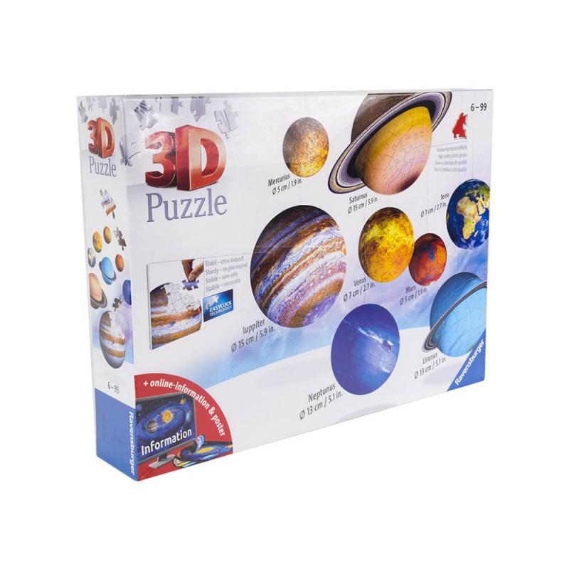 Puzzle 3d Il Sistema Planetario - Ravensburger  - MazzeoGiocattoli.it