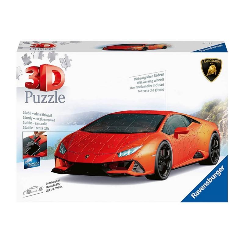 Puzzle 3d Lamborghini Huraca'n Evo - Ravensburger  - MazzeoGiocattoli.it