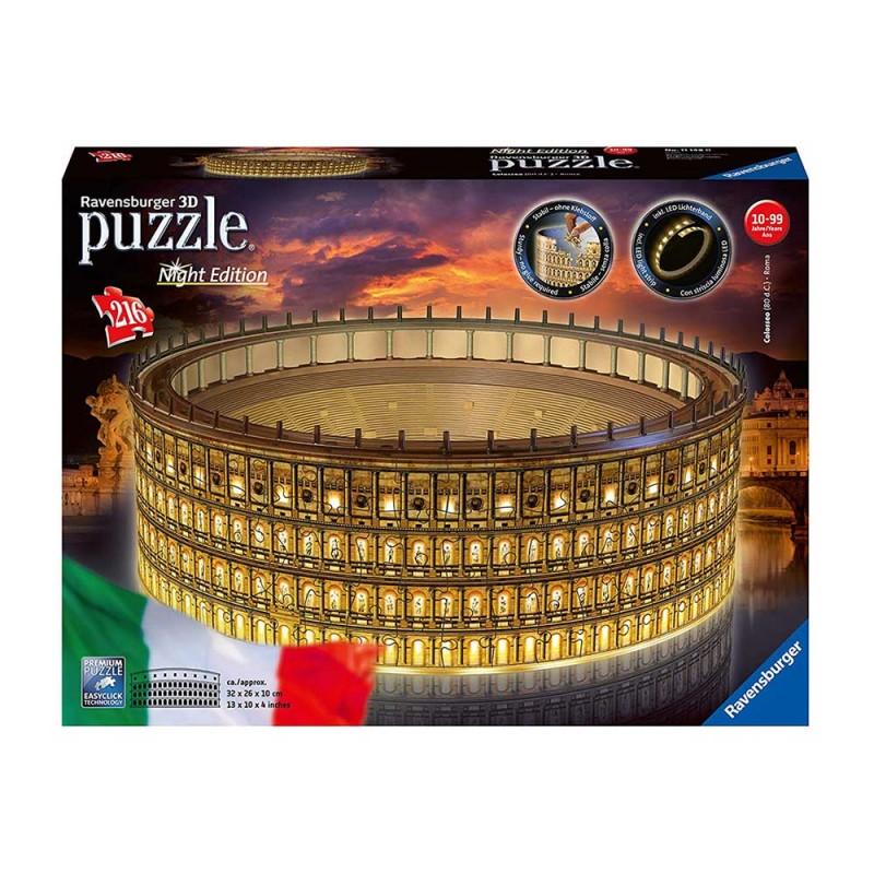 Puzzle 3d Maxi Colosseo Night - Ravensburger   - MazzeoGiocattoli.it