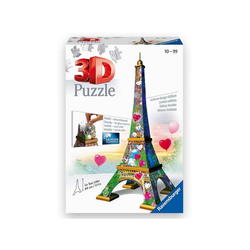 Puzzle 3d Torre Eiffel Love Edition  - Ravensburger  - MazzeoGiocattoli.it