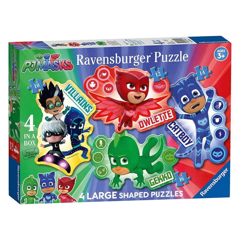 Puzzle 4 In 1 Pj Mask - Ravensburger - MazzeoGiocattoli.it