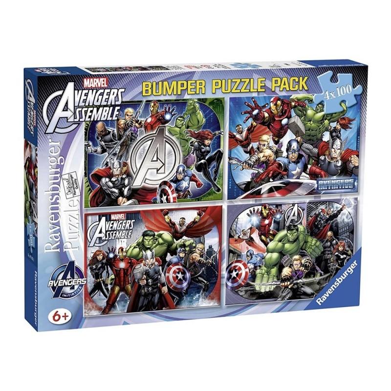 Puzzle 4x100 Avengers - Ravensburger - MazzeoGiocattoli.it