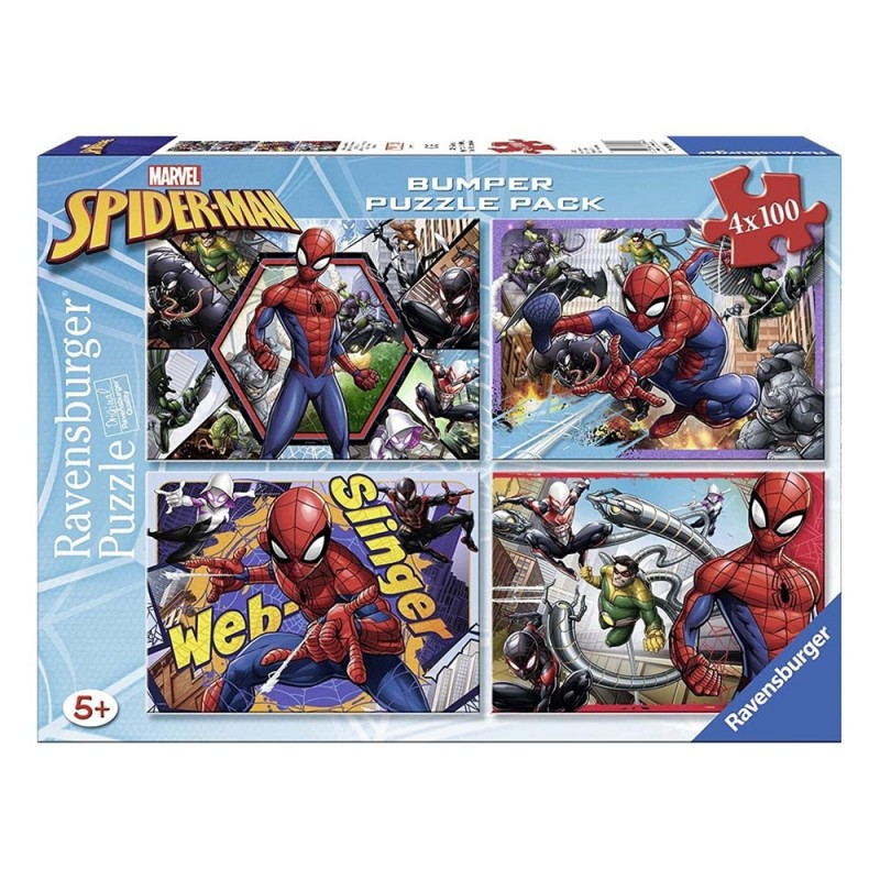 Puzzle 4x100 Spider Man - Ravensburger  - MazzeoGiocattoli.it