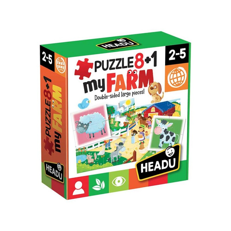 Puzzle 8+1 My Farm - Headu  - MazzeoGiocattoli.it