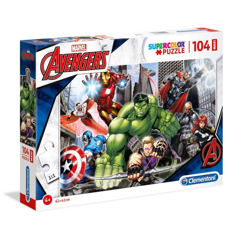 Puzzle Avengers 104 Pezzi Maxi - Clementoni  - MazzeoGiocattoli.it