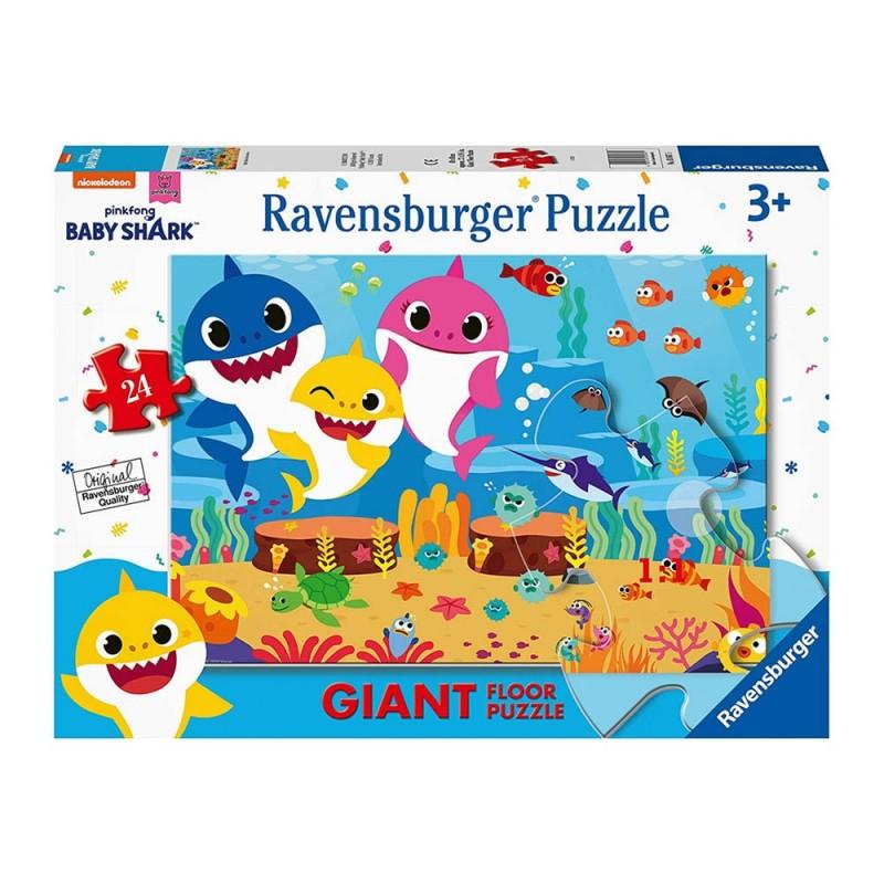 Puzzle Baby Shark Puzzle 24 Giant - Ravensburger  - MazzeoGiocattoli.it