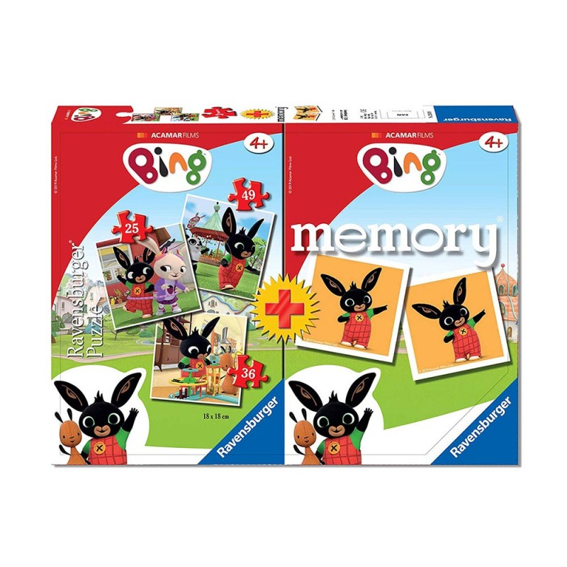 Puzzle Bing Multipack Memory - Ravensburger  - MazzeoGiocattoli.it