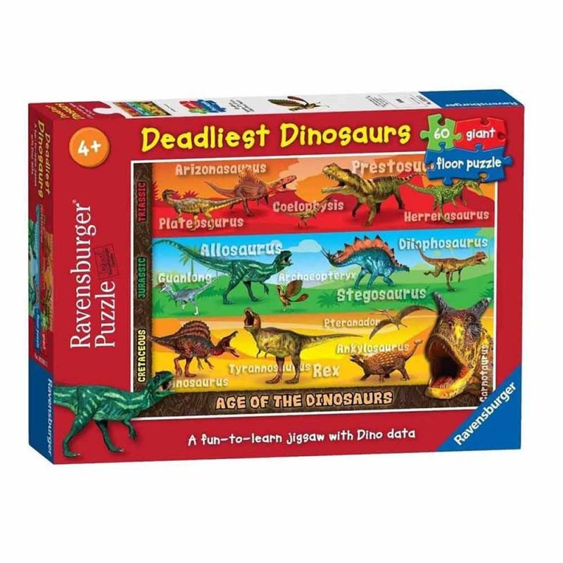 Puzzle Età Dei Dinosauri Da 60 Pezzi - Ravensburger  - MazzeoGiocattoli.it