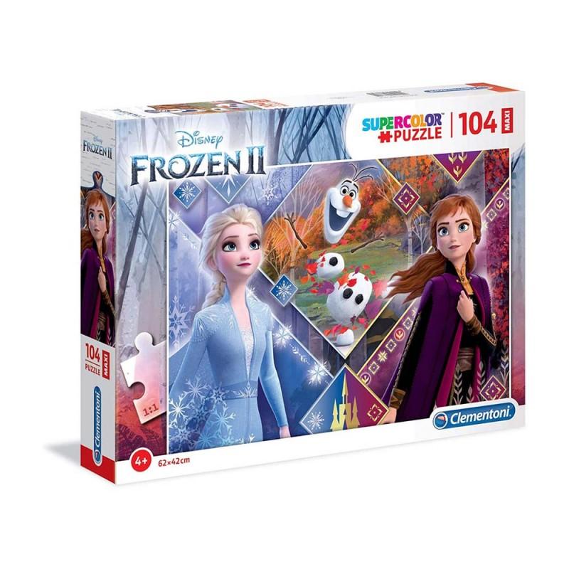 Puzzle Frozen 2 104 Pezzi Maxi - Clementoni  - MazzeoGiocattoli.it