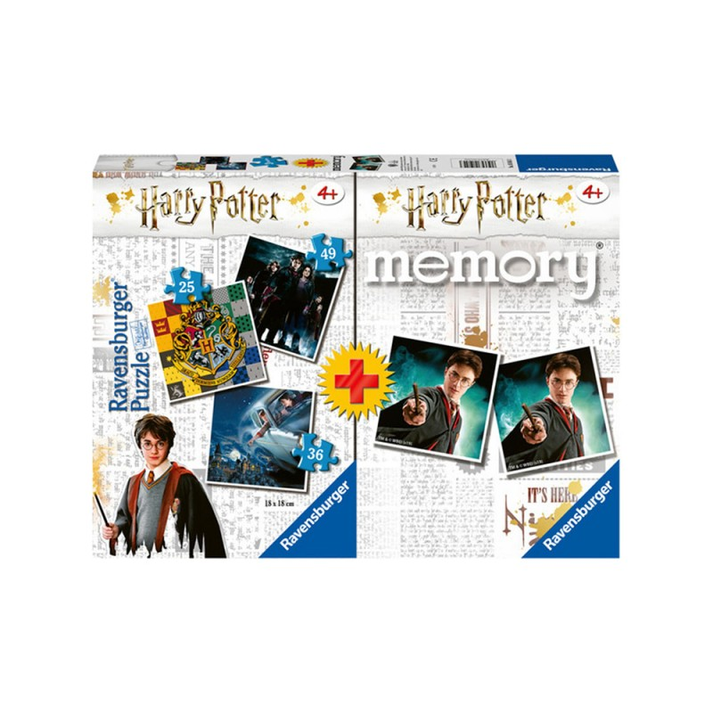 Puzzle Harry Potter Multipack Memory - Ravensburger - MazzeoGiocattoli.it
