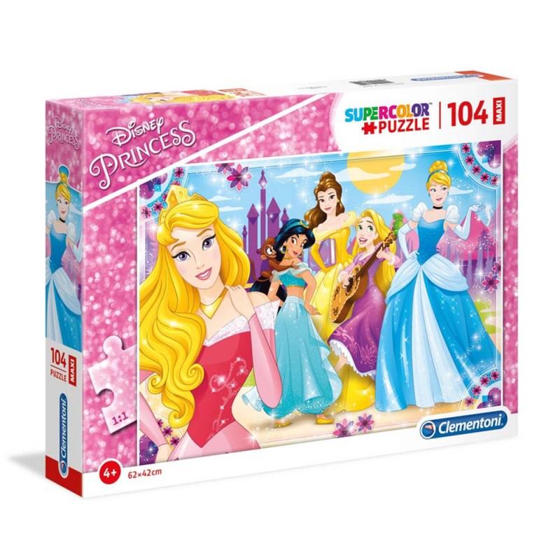 Puzzle Le Principesse Disney 104 Pezzi Maxi - Clementoni  - MazzeoGiocattoli.it