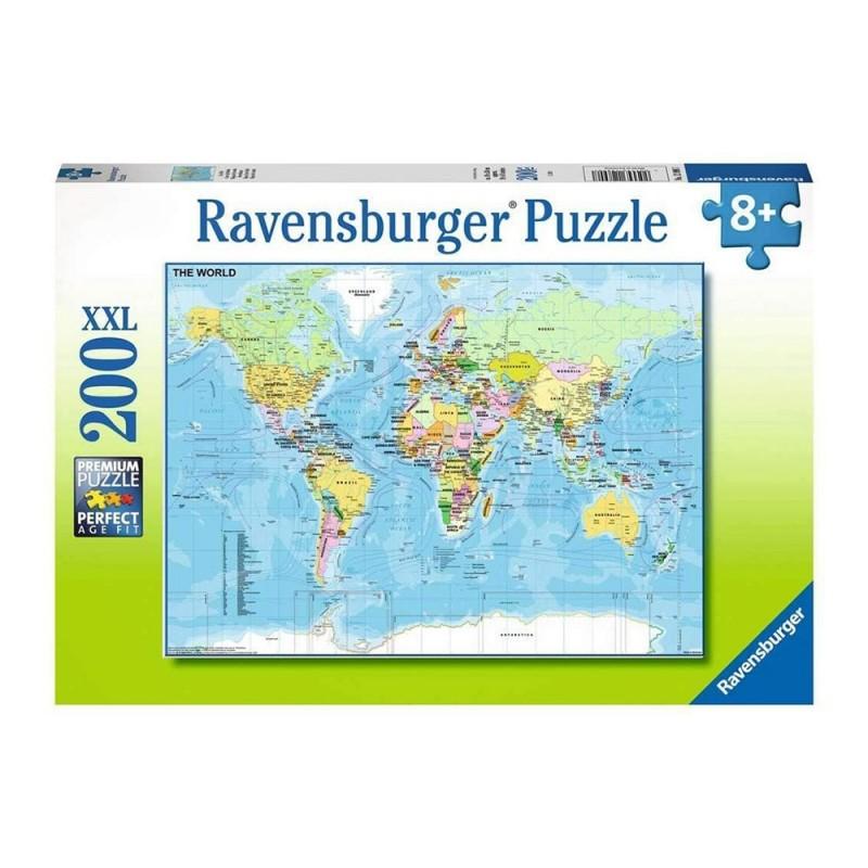Puzzle Mappa Del Mondo Puzzle 200 XXL - Ravensburger  - MazzeoGiocattoli.it