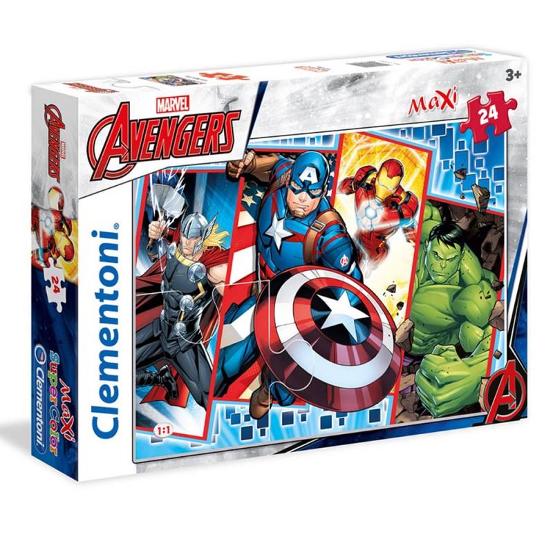 Puzzle Maxi Avengers 24pz - Clementoni - MazzeoGiocattoli.it