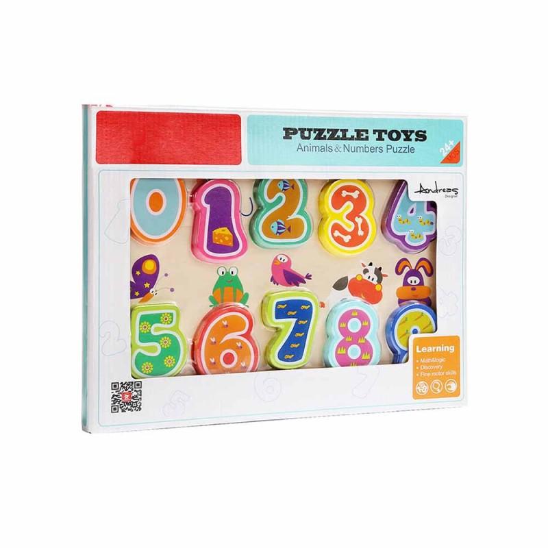 Puzzle Con Numeri E Animali - Mazzeo Giocattoli  - MazzeoGiocattoli.it