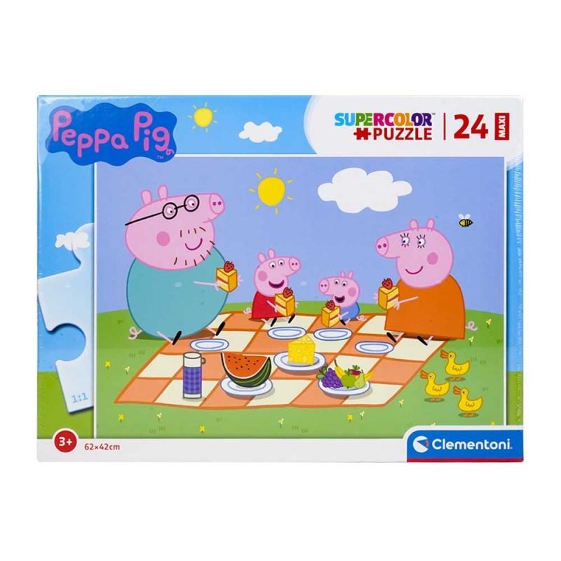 Puzzle Peppa Pig Maxi 24pz - Clementoni  - MazzeoGiocattoli.it