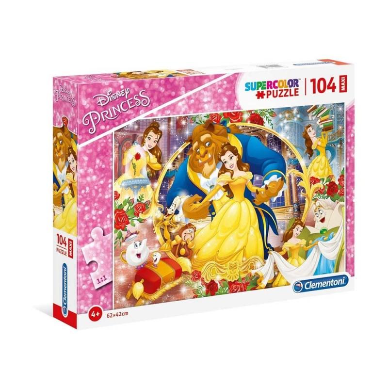 Puzzle Principesse Disney 104 Pezzi Maxi - Clementoni - MazzeoGiocattoli.it