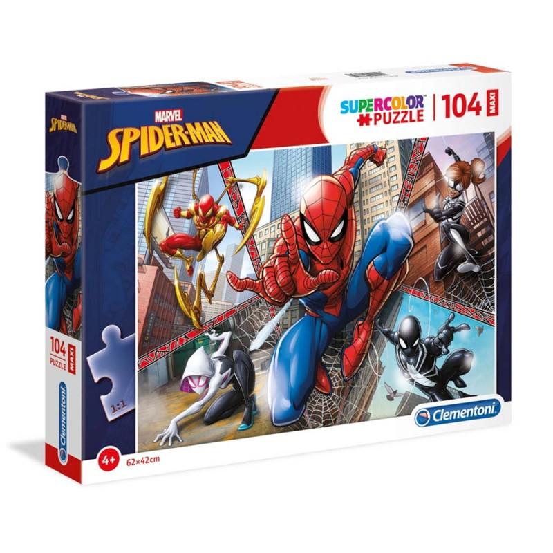 Puzzle Spiderman 104 Pezzi Maxi - Clementoni  - MazzeoGiocattoli.it