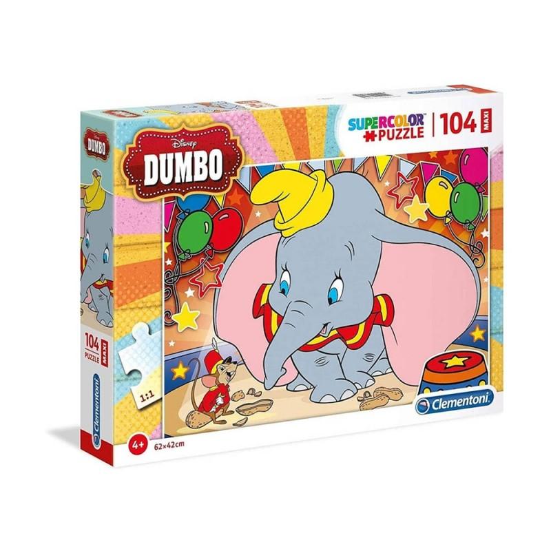 Puzzle Supercolor 104 Dumbo - Clementoni  - MazzeoGiocattoli.it
