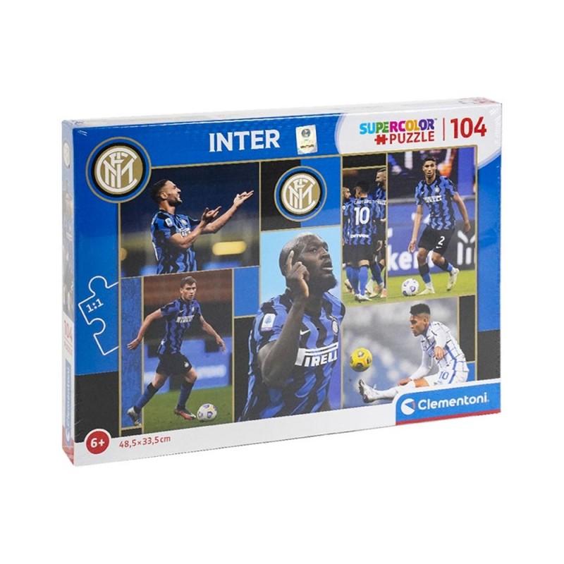 Puzzle Supercolor 104 Squadra Inter - Clementoni - MazzeoGiocattoli.it