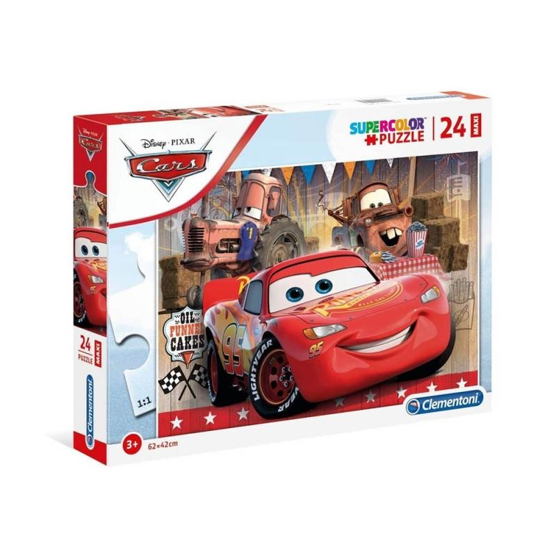 Puzzle Supercolor 24 Disney Pixar Cars - Clementoni  - MazzeoGiocattoli.it