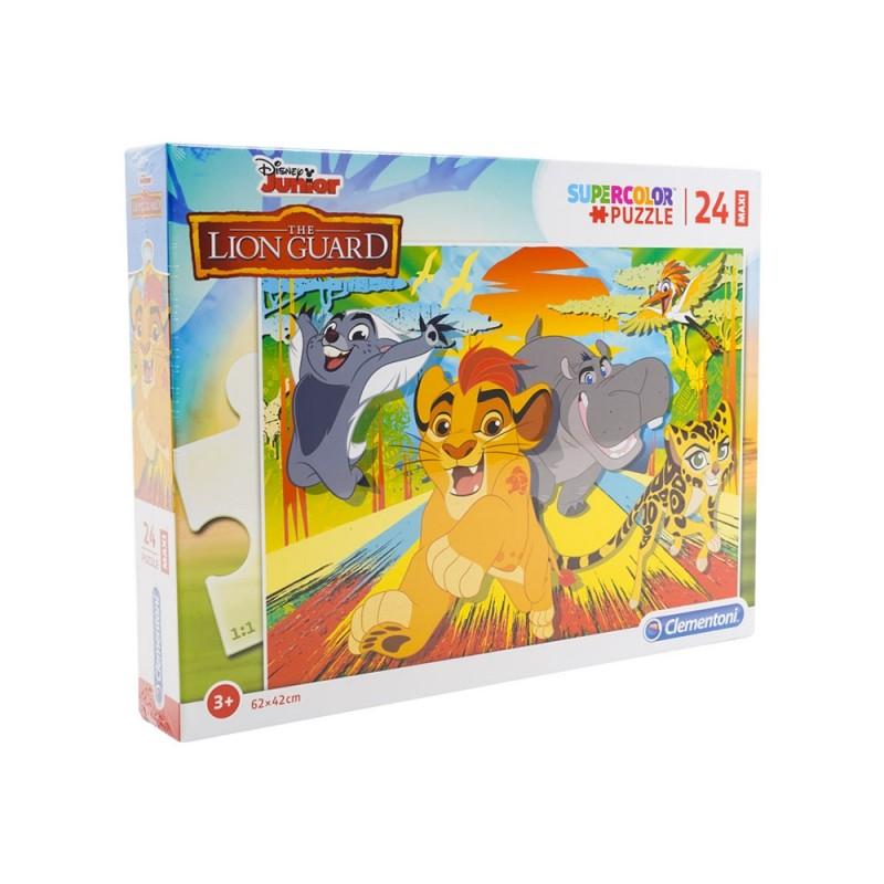Puzzle Supercolor 24 Lion Guard - Clementoni  - MazzeoGiocattoli.it