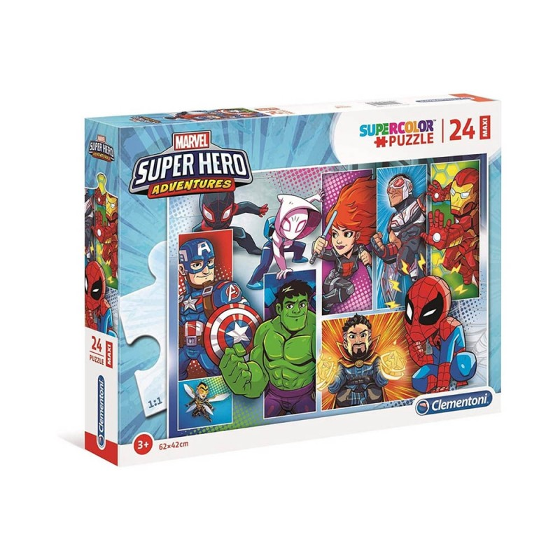 Puzzle Supercolor 24 Super Hero Adventures - Clementoni  - MazzeoGiocattoli.it