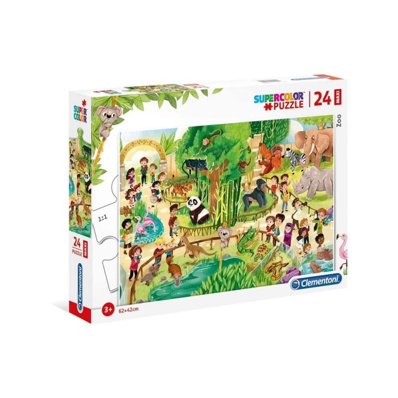 Puzzle Supercolor 24 Zoo - Clementoni  - MazzeoGiocattoli.it