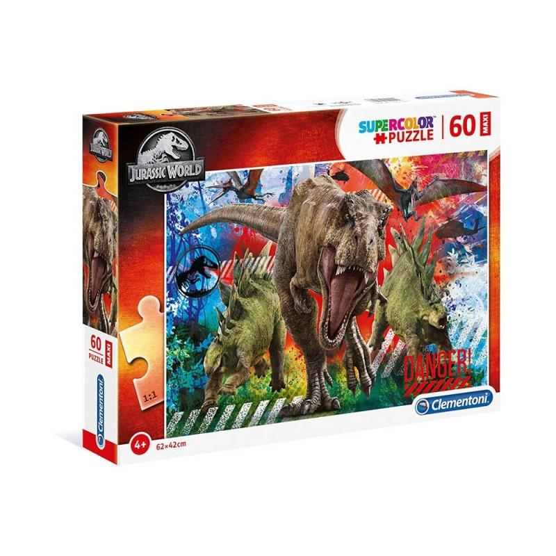 Puzzle Supercolor 60 Jurassic World - Clementoni  - MazzeoGiocattoli.it