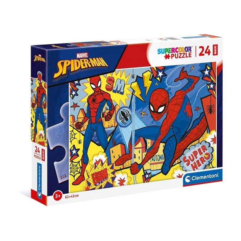 Puzzle Supercolor Maxi 24 Pz Spider Man - Clementoni  - MazzeoGiocattoli.it