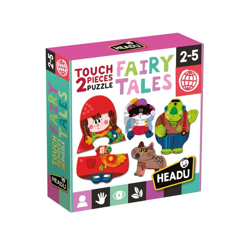 Puzzle Touch Fairy Tales 2 Pezzi - Headu  - MazzeoGiocattoli.it