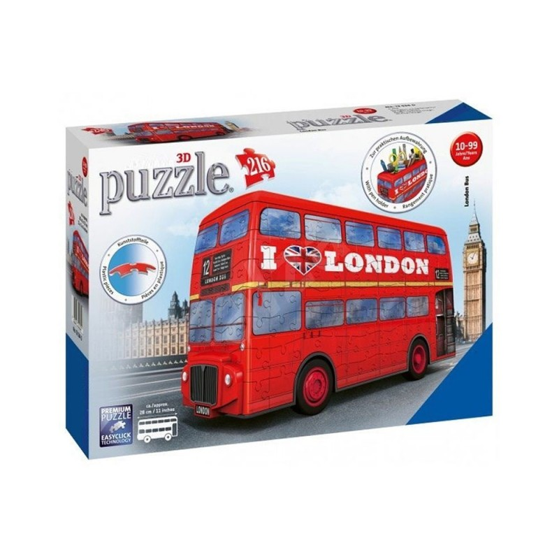 Puzzle 3D London BUS - Ravensburger  - MazzeoGiocattoli.it