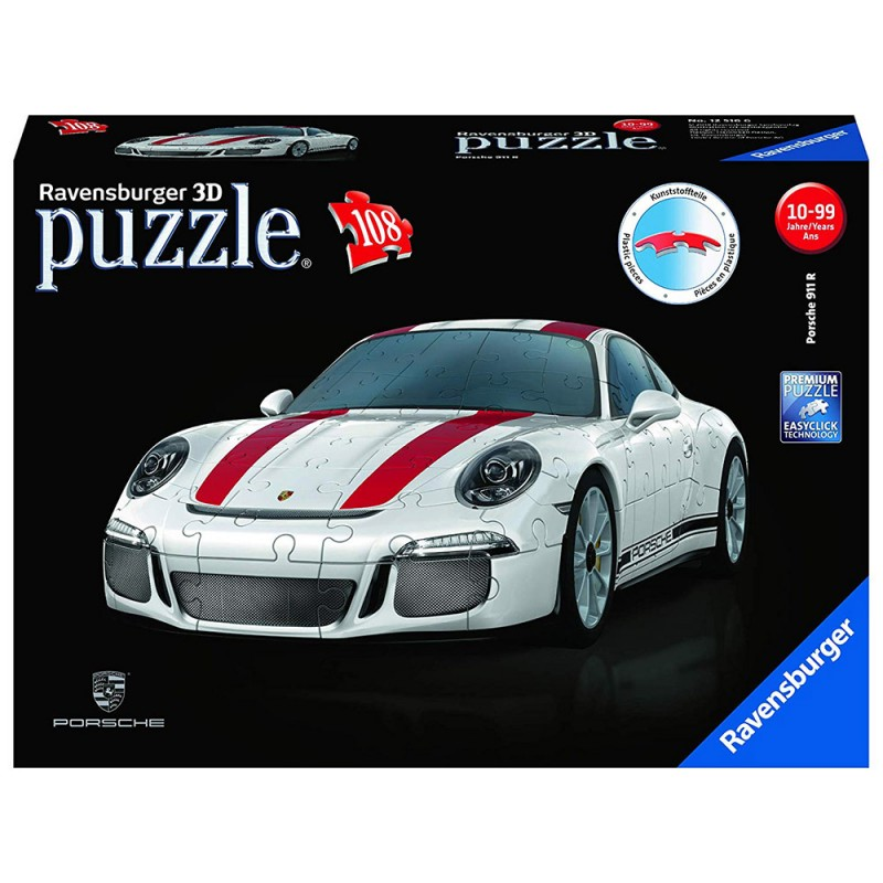 Porsche 911 - Puzzle 3D - Ravensburger - MazzeoGiocattoli.it