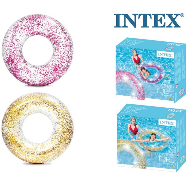 Salvagente Glitter 119cm - Intex  - MazzeoGiocattoli.it