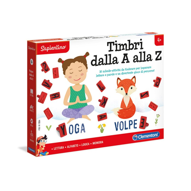 Sapientino Timbri Dalla A Alla Z - Clementoni - MazzeoGiocattoli.it