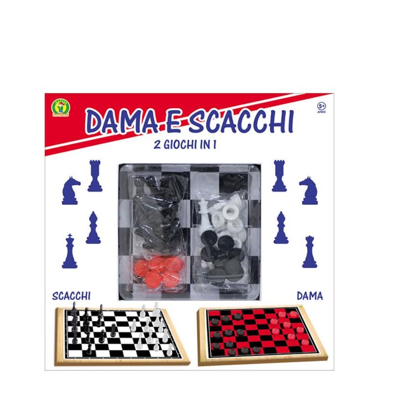Dama E Scacchi 2 Giochi In 1 - Mazzeo Giocattoli            - MazzeoGiocattoli.it
