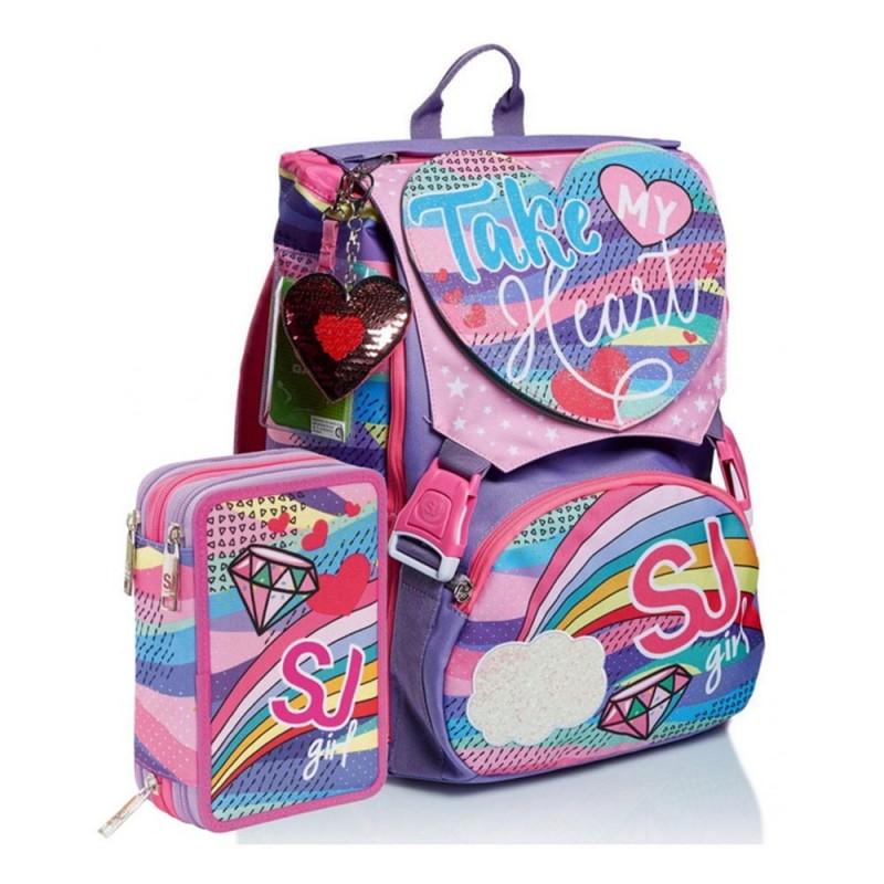 Zaino Schoolpack SJ Gang Pastel Rainbow - Seven - MazzeoGiocattoli.it