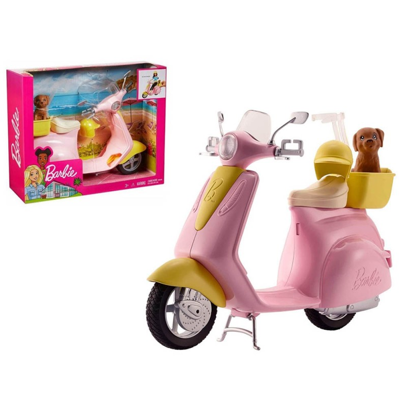 Scooter Di Barbie Con Cagnolino - Mattel  - MazzeoGiocattoli.it