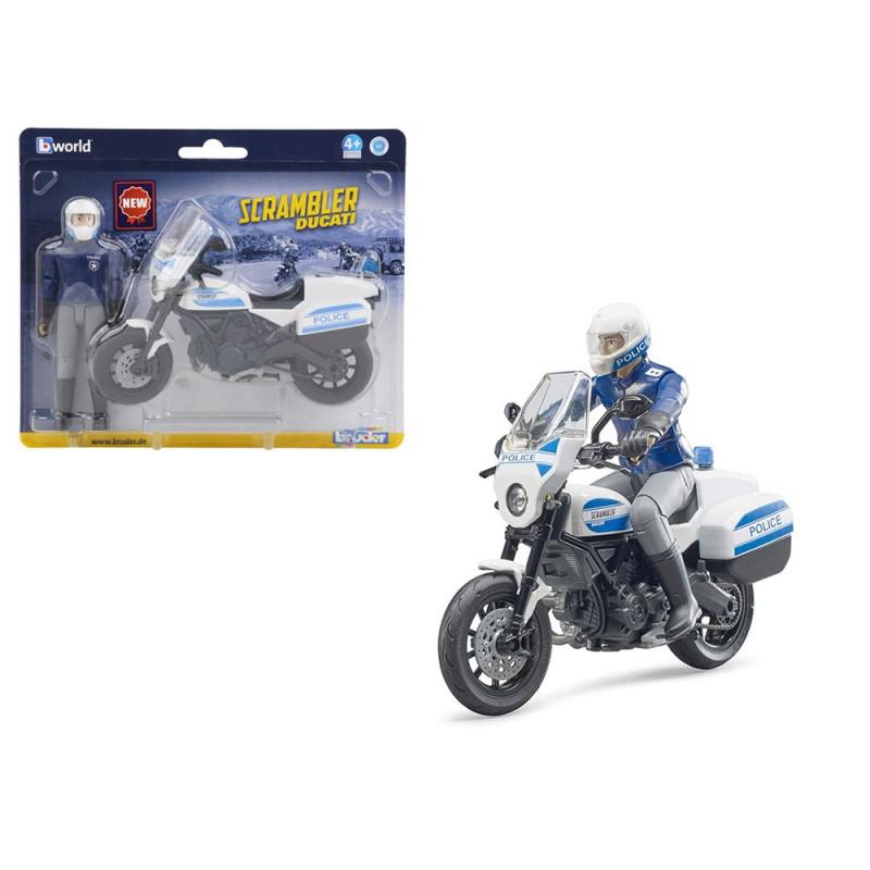 Scrambler Ducati Moto Della Polizia - Bruder  - MazzeoGiocattoli.it