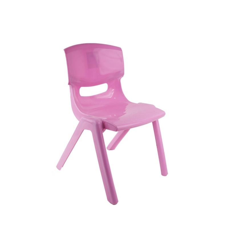 Sediolina Rosa In Plastica Per Bambini - Mazzeo Giocattoli  - MazzeoGiocattoli.it