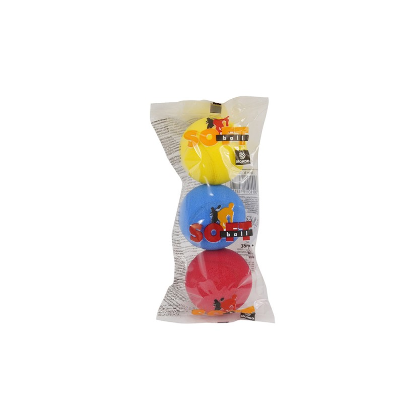 Set 3 Pezzi Palline Soft Ball - Mondo - MazzeoGiocattoli.it