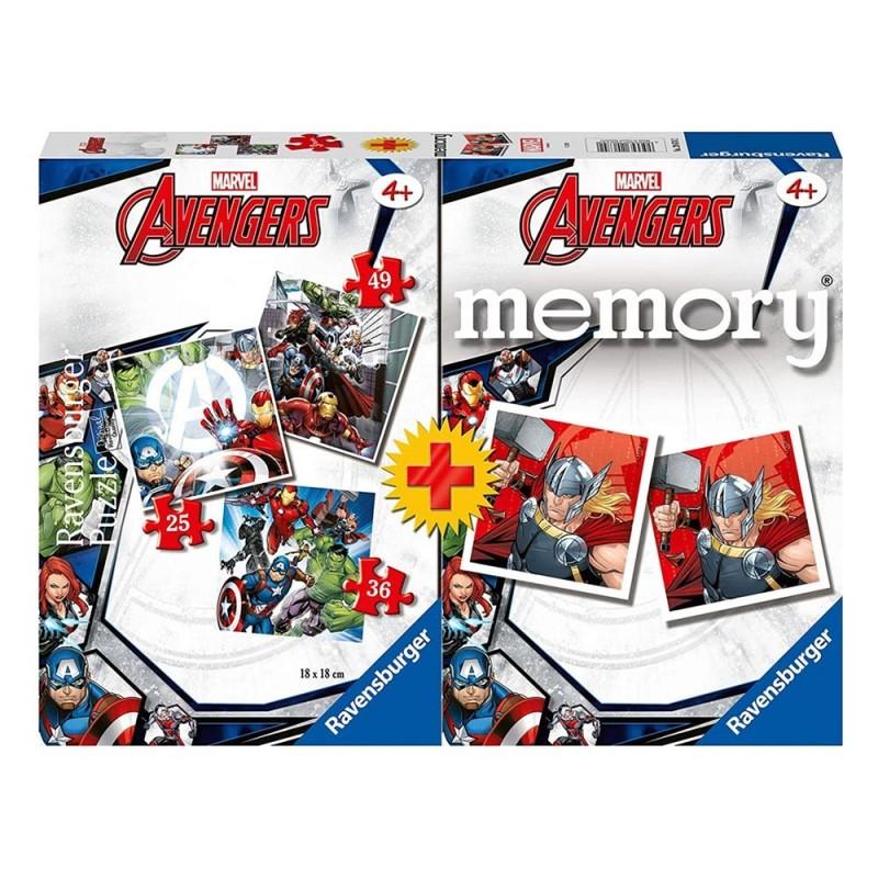 Set Avengers Memory + Puzzle - Ravensburger - MazzeoGiocattoli.it