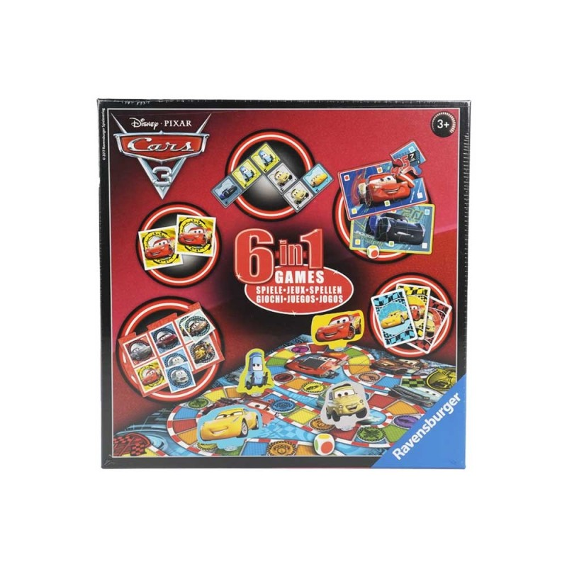 Set Di 6 Giochi In 1 Cars Disney - Ravensburger  - MazzeoGiocattoli.it
