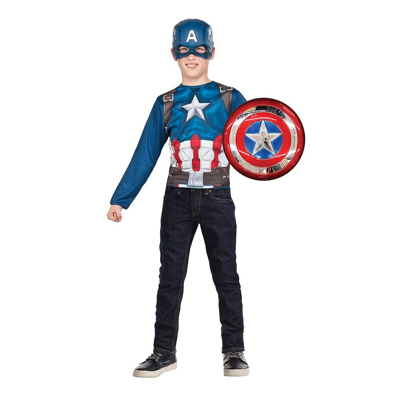 Set Capitan America Con Scudo E Maschera Taglia Unica - Rubie's  - MazzeoGiocattoli.it