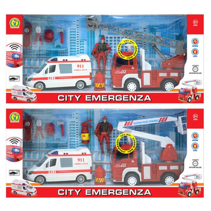 PLAYSET CITY EMERGENZA - MAZZEO GIOCATTOLI - MazzeoGiocattoli.it