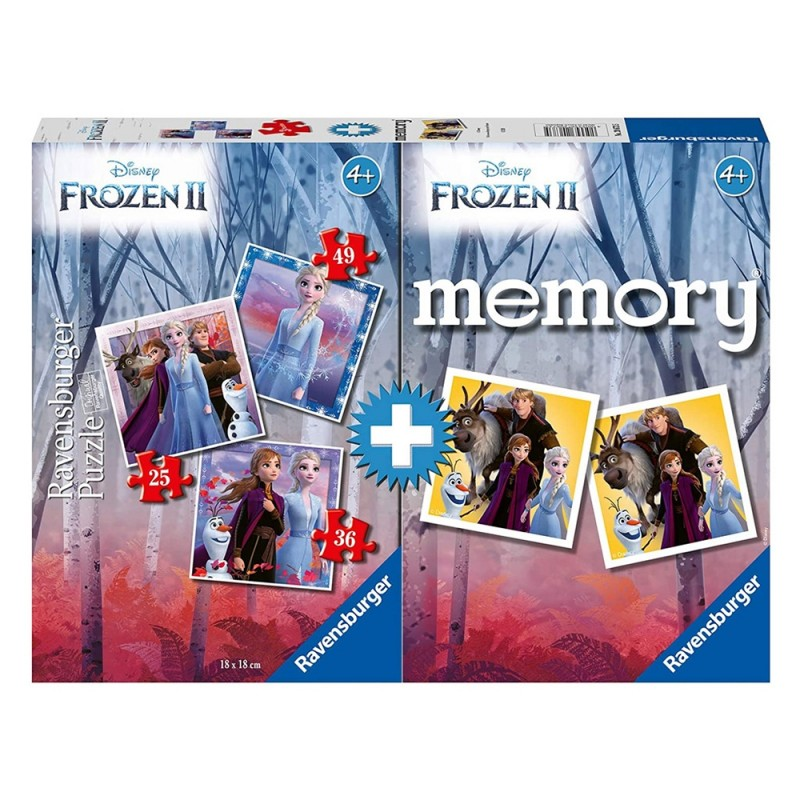 Set Frozen 2 Memory + Puzzle - Ravensburger - MazzeoGiocattoli.it