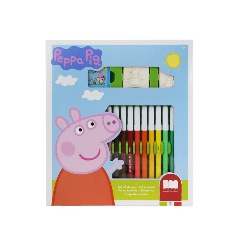 Set Pennarelli E Timbri Peppa Pig - Multiprint  - MazzeoGiocattoli.it