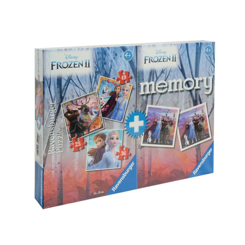 Set Puzzle + Memory Frozen 2 - Ravensburger  - MazzeoGiocattoli.it