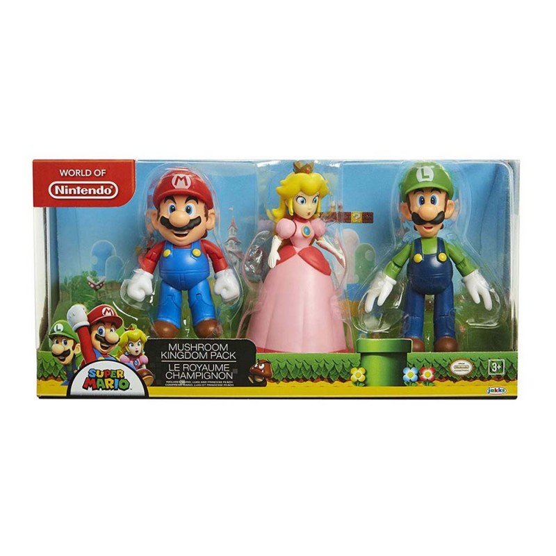 Set Super Mario Mushroom Kingdom - Jakks Pacific  - MazzeoGiocattoli.it