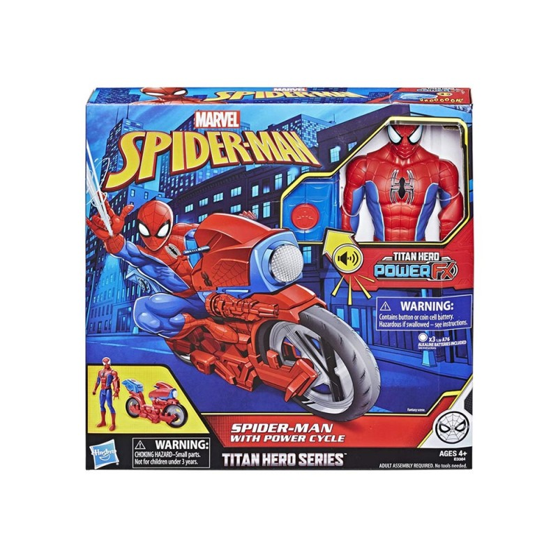 Spider-Man Titan Power Con Moto - Hasbro  - MazzeoGiocattoli.it
